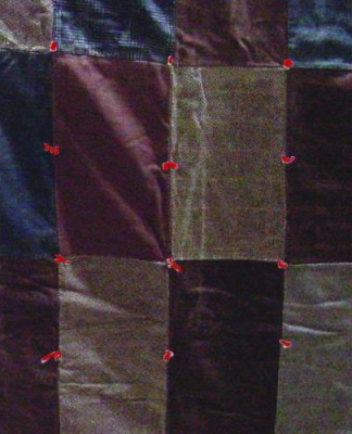 Old tacked-style quilt