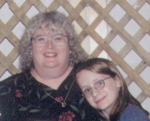 My daughter and others loved me even at my extreme weight. Mother's Day 2002.